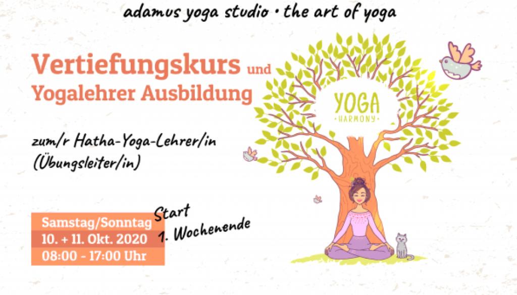 Vertiefungskurs und Yogalehrer | COPYRIGHT © Adamus Yoga Studio 2020
